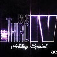 LOWER THIRD PACK VOL.4 – AFTER EFFECTS PROJECT (VIDEOHIVE)