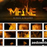 MOTIONVFX: MFIRE – 150 ORGANIC 2K FIRE ELEMENTS