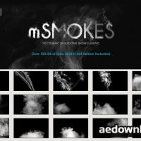 MOTIONVFX – MSMOKES: 100 ORGANIC 2K SMOKE ELEMENTS (H.264 VERSION)