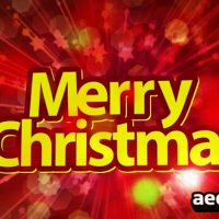 MERRY CHRISTMAS HAPPY NEW YEAR – AFTER EFFECTS PROJECT