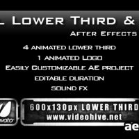 METAL LOWER THIRD & LOGO AE PROJECT PACK (VIDEOHIVE)