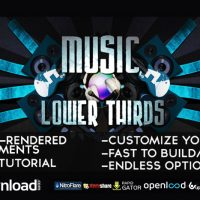 MUSIC LOWER THIRDS 2192670 – AFTER EFFECTS PROJECT (VIDEOHIVE)