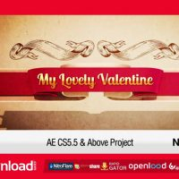 MY LOVELY VALENTINE – FREE AFTER EFFECTS PROJECT (VIDEOHIVE)