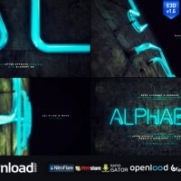 NEON ALPHABET & NUMBERS – FREE AFTER EFFECTS PROJECT (VIDEOHIVE)