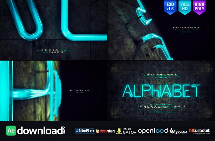 Neon Alphabet & Numbers