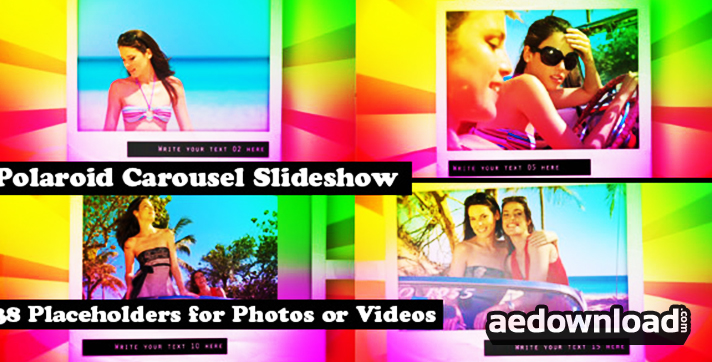 Polaroid Carousel Slideshow for Pictures and Video