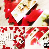ROSE PETALS HEART – PHOTO GALLERY – AFTER EFFECTS PROJECT (VIDEOHIVE)