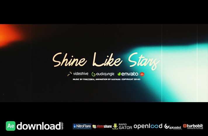 shine like stars free after effects project videohive free after effects template. Black Bedroom Furniture Sets. Home Design Ideas