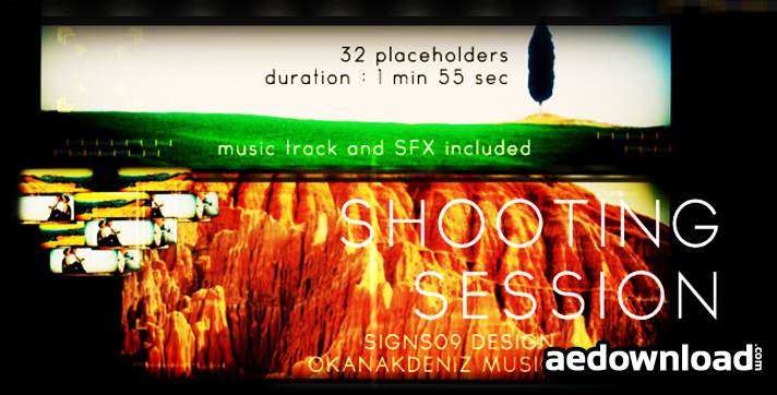 Shooting Session After Effects Project Videohive