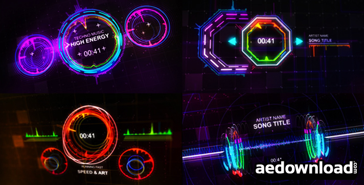 techno music visualizer videohive free after effects template videohive projects. Black Bedroom Furniture Sets. Home Design Ideas