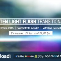 TEN LIGHT FLASH TRANSITIONS PACK – VIDEOHIVE