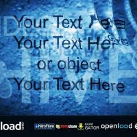 TEXT OR OBJECT UNDER WATER RIPPLES (VIDEOHIVE)
