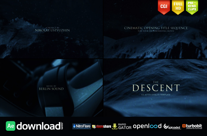 the descent cinematic titles free after effects project videohive free after effects. Black Bedroom Furniture Sets. Home Design Ideas