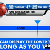 ULTIMATE LOWER THIRD SPORTS PACK – AFTER EFFECTS TEMPLATE (BLUEFX)