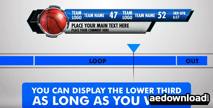 Ultimate Lower Third Sports Pack After Effects Template Bluefx