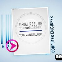 VISUAL RESUME ALPHA – ANIMATED CURRICULUM (VIDEOHIVE)