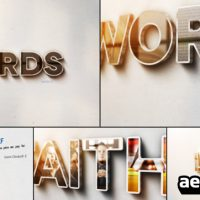 WORDS – AFTER EFFECTS PROJECT (VIDEOHIVE)