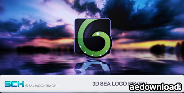 3d Sea Logo Reveal After Effects Project Videohive