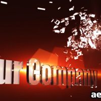 3D SHATTER LOGO 155939 – AFTER EFFECTS PROJECT (VIDEOHIVE)