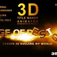 3D TITLE MAKER ANIMATOR – AFTER EFFECTS PROJECT (VIDEOHIVE)