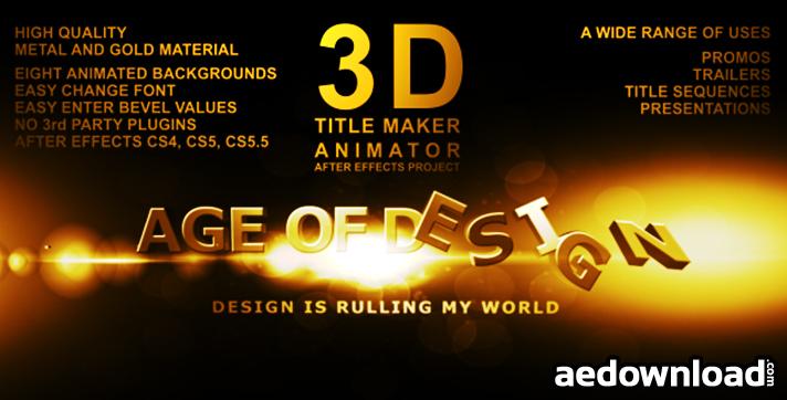 3D Title Maker Animator