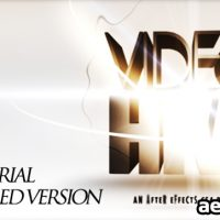 3D TEXT OPENING – AFTER EFFECTS PROJECT (VIDEOHIVE)