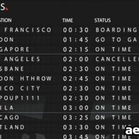 AIRPORT DEPARTURE BOARD 121766 – AFTER EFFECTS PROJECT (VIDEOHIVE)
