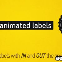 ANIMATED LABELS PACK – PROJECT FOR AFTER EFFECTS (VIDEOHIVE)