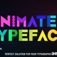 ANIMATED TYPEFACE – AFTER EFFECTS PROJECT (VIDEOHIVE)