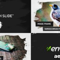 BRUSH IMAGE VIDEO SLIDES – AFTER EFFECTS PROJECT (VIDEOHIVE)