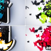 BUTTERFLIES LOGO REVEAL – AFTER EFFECTS PROJECT (VIDEOHIVE)