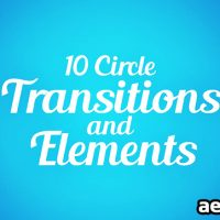 CIRCLE TRANSITIONS AND ELEMENTS – AFTER EFFECTS TEMPLATE (MOTION ARRAY)