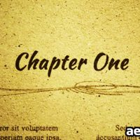CHAPTER ONE – PROJECT FOR AFTER EFFECTS (VIDEOHIVE)
