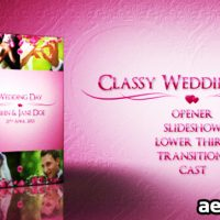 CLASSY WEDDING PACK – PROJECT FOR AFTER EFFECTS (VIDEOHIVE)
