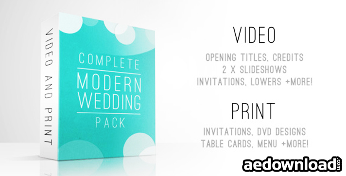 complete modern wedding pack free download videohive
