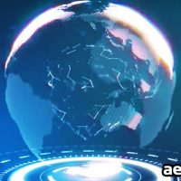 FUTURISTIC EARTH LOGO – AFTER EFFECTS TEMPLATE (MOTION ARRAY)