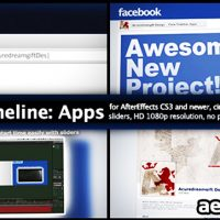 FACE TIMELINE: APPS – AFTER EFFECTS PROJECT (VIDEOHIVE)