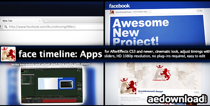 FACE TIMELINE APPS AFTER EFFECTS PROJECT VIDEOHIVE Free - After effects timeline template