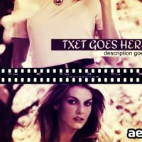 FILM FASHION SLIDE – PROJECTS FOR AFTER EFFECTS (VIDEOHIVE)