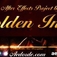 GOLDEN INTRO – AFTER EFFECTS PROJECT (VIDEOHIVE)