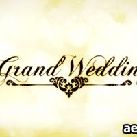 GRAND WEDDING – AFTER EFFECTS PROJECT (VIDEOHIVE)