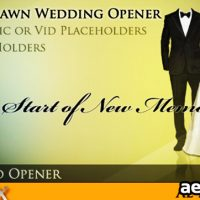 HAND DRAWN WEDDING OPENER – AFTER EFFECTS PROJECT (VIDEOHIVE)