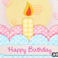 HAPPY BIRTHDAY CARD – AFTER EFFECTS PROJECT (VIDEOHIVE)