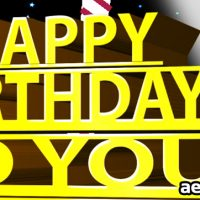 HAPPY BIRTHDAY ECARD – INKMAN – PROJECT FOR AFTER EFFECTS (VIDEOHIVE)
