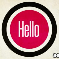 HELLO AND WELCOME TO… AFTER EFFECTS PROJECT (VIDEOHIVE)