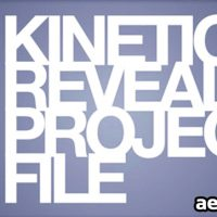 KINETIC REVEAL – AFTER EFFECTS PROJECT (VIDEOHIVE)