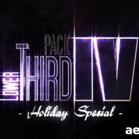LOWER THIRD PACK VOL.4 HOLIDAY SPECIAL (VIDEOHIVE)