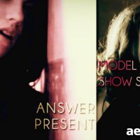 MODEL SHOW SLIDE – AFTER EFFECTS PROJECT (VIDEOHIVE)