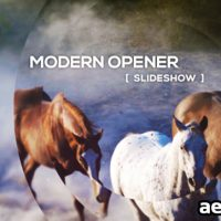 MODERN OPENER – SLIDESHOW – AFTER EFFECTS TEMPLATES (VIDEOHIVE)