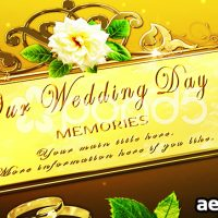 OUR BIG DAY MEMORIES – AFTER EFFECTS TEMPLATE (POND5)